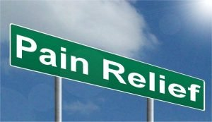 pain relief road sign